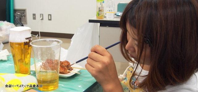 食品サンプル教室 焼き鳥の作成