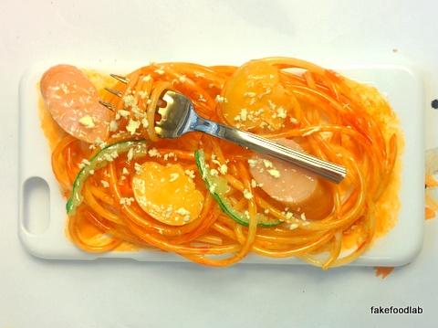 食品サンプルスマホケースナポリタン