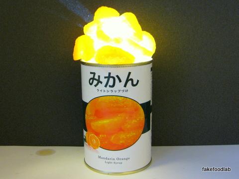 食品サンプルみかんの缶詰ライト