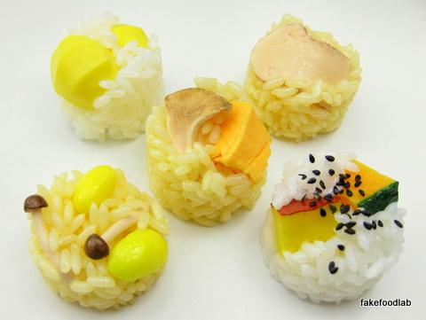 食品サンプル秋の炊き込みご飯マグネット
