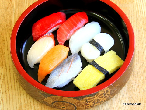 食品サンプルにぎり寿司