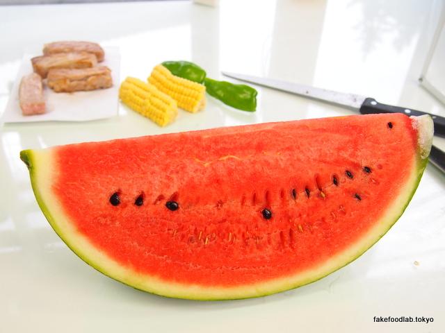 食品サンプル夏のデザイン スイカ