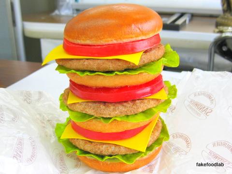 食品サンプルハンバーガー
