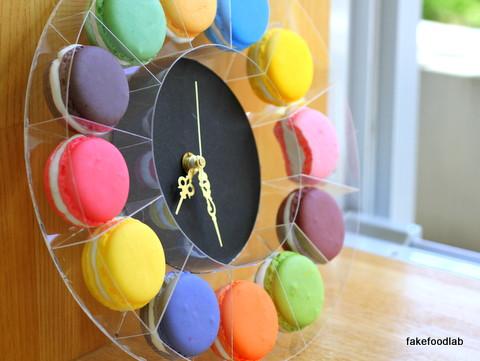 食品サンプルマカロン時計